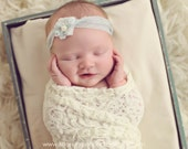 Cream Lace Baby Wrap, Newborn Lace Wrap, Lace Baby Wrap, Cream Lace Fabric