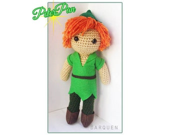 Crochet Doll - Fairytale - Peter Pan