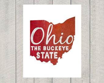 Ohio Art Print - The Buckeye State