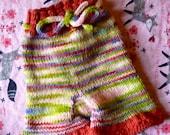 Small Sweet Pea Ruffle Wool Shorties