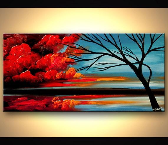 tableau moderne peinture acrylique