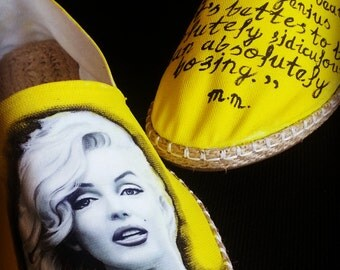 Hand Painted Espadrilles  - Marilyn Queto  - Custom shoe