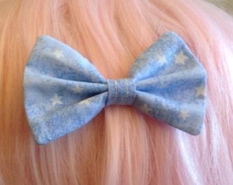 Kawaii Harajuku Fairy Kei Hime Gyaru Japanese Fashion Pastel Goth Soft Grunge Pop Kei Dolly Lolita Starry Hair Bow Tie