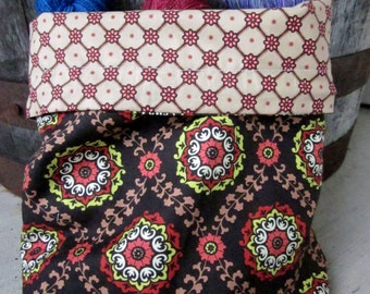 India Inspired Medallions Knitting Project Bag - Phat Fiber