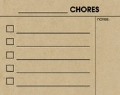 FILL IN Dry/Wet Erase Chore Chart Magnet. Tan Kraft. Comes with a Wet Erase Marker.