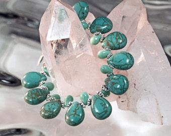 Turquoise Teardrop Bracelet