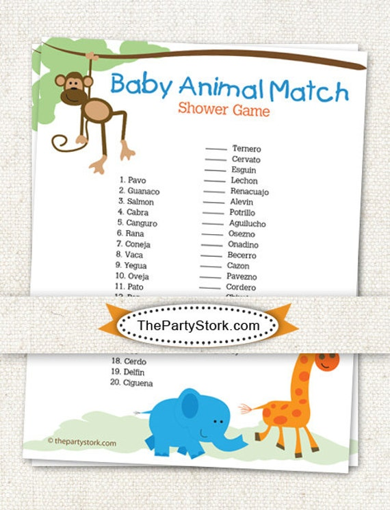 printable baby shower games in spanish sorepointrecords
