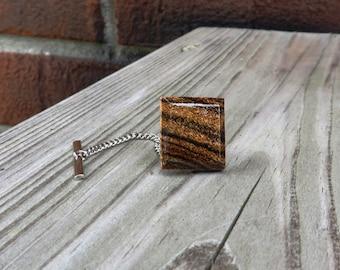 Mexican Bocote Wood Tie Tack Handmade