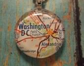 Washington DC Map Pendant