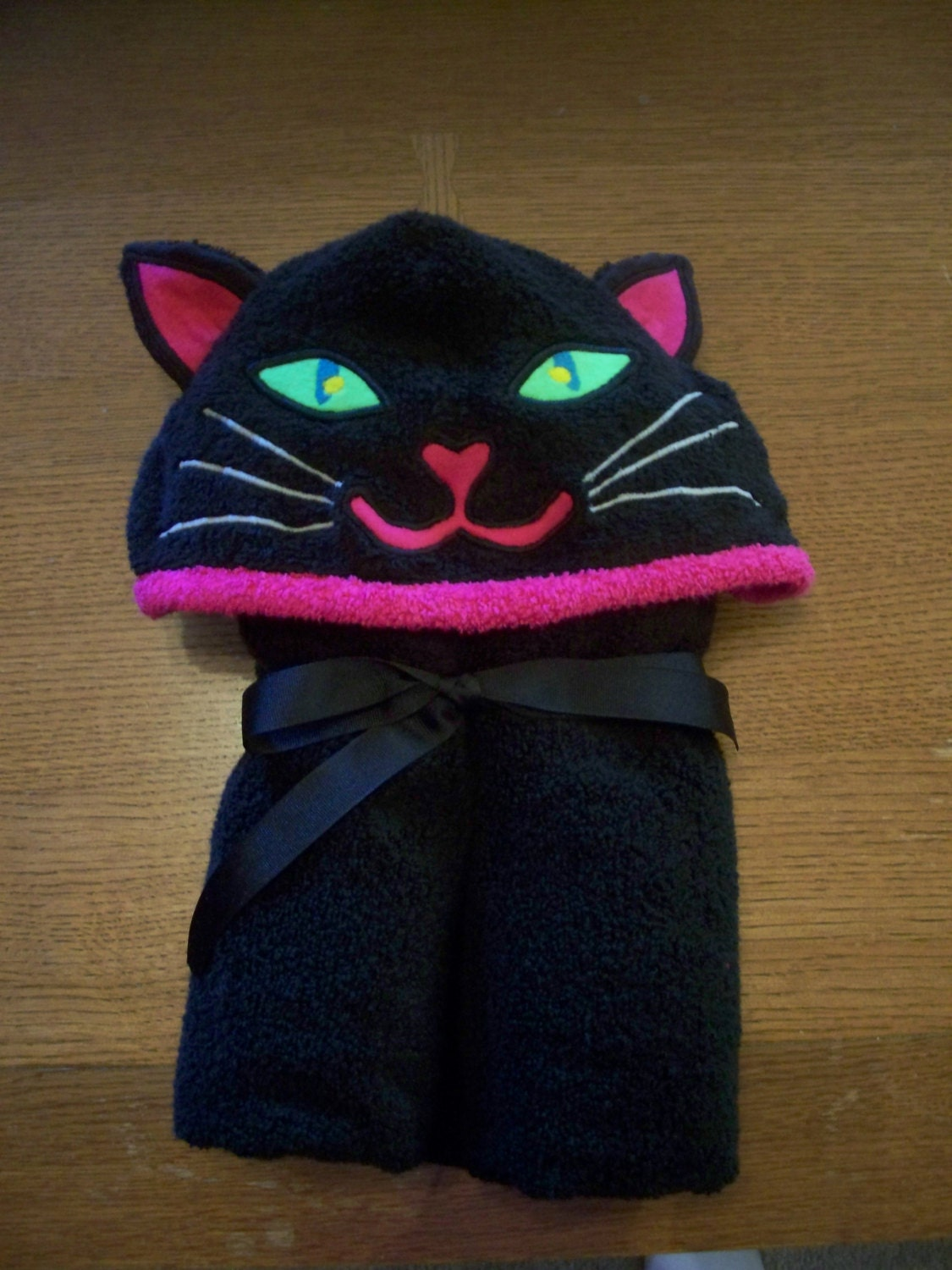Adult Size Cat Hooded Towel Free By Nanabananasgifts On Etsy