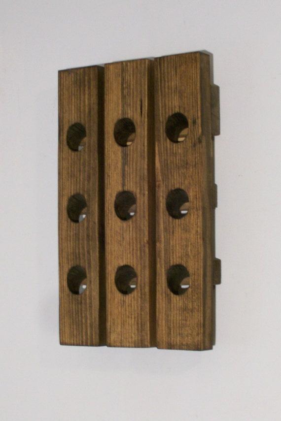 Wood Wine Rack Antique Style Riddling Rack Mini Winerack