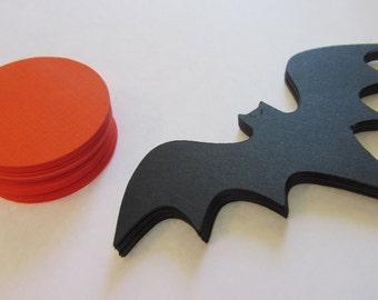 DIY Bat and Moon garland, bat die cuts, moon die cuts, paper bats with moons, bat garland