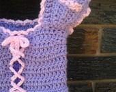Rapunzel crochet dress (18 to 24 months, instant download)