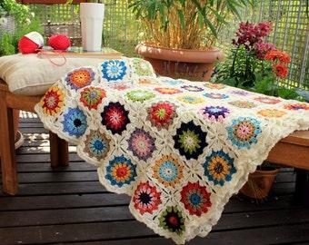 "granny blanket ""garden festival"" - Auftragsarbeit!"