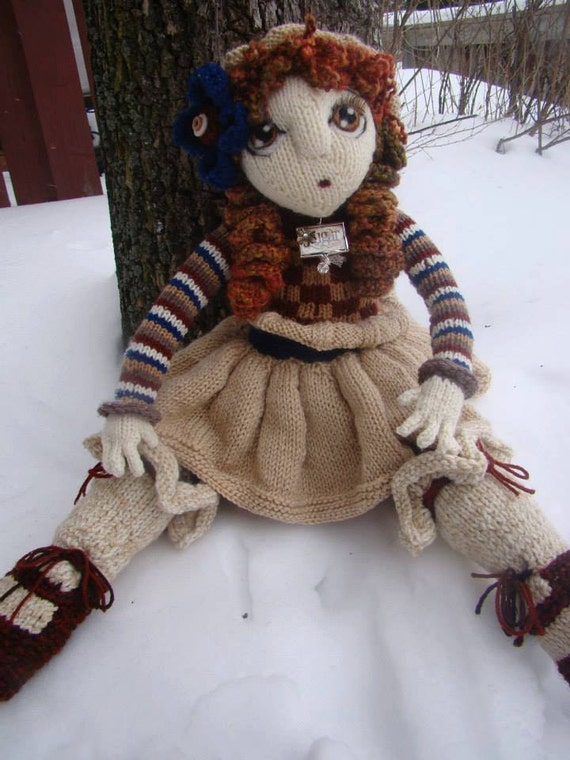 Pattern for Clementine Raggedy Lottie ragdoll doll knitted doll from Deena6A ...