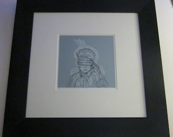 Print Silk Screen Tad Savinar Early Morning Realization 1984 Number 7 of 47 Signed Dated 1984 Professional Black Frame