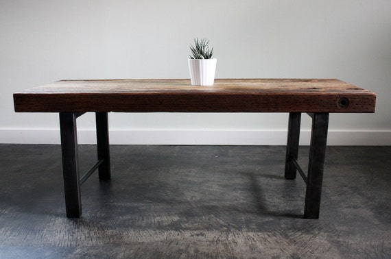 JB bench, coffee table, modern, reclaimed, rustic