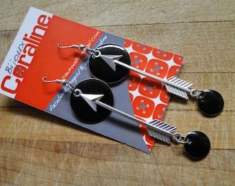 """Earrings """"Emanel"""" - """"Flèche"""" Silver Version"""