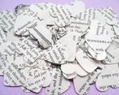 500 Alice In Wonderland Heart Novel Book Confetti - Wedding Vintage Table Decoration Paper Hearts