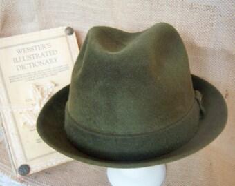 Vintage Stetson Playboy Hat, men's green stetson hat