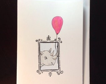 Rhino Birthday Greeting Card