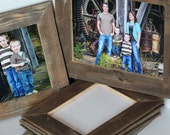 8x10 Reclaimed Wood Picture Frame - re-purposed wooden frame
