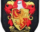 Smaller Gryffindor Hogwarts' House Shield Harry Potter Iron On Badge Applique Patch