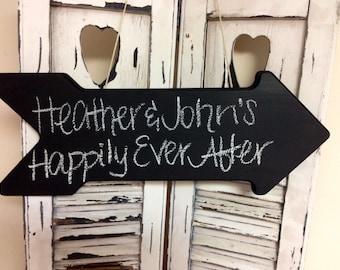 Chalkboard Arrow Sign, Perfect for Rustic Wedding Decor