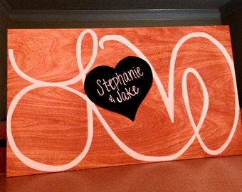 Large Wood Sign Guest Book Alternative