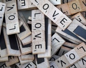 "Set of 150- Scrabble Tile ""Love"" Magnet Wedding Favors"