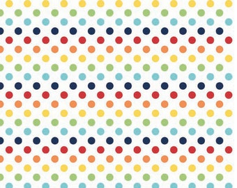 Small Dots Rainbow by Riley Blake Designs - Fat Quarter Cut - Cotton Fabric -