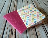 Handmade Mini Notebook - Field Journal - Art Journal - Lined - 3.5x5 - Jotter - Set of 2 Patterns