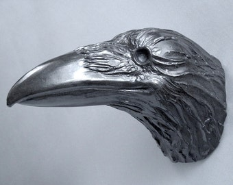 Einstein 603, Raven, Crow, Bird, Faux Taxidermy, Wall Sculpture, Handmade, Steve Eichenberger, Wall Art