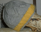 50% OFF ON SALE!!!! Chevron Lace Hat in Grey and Yellow