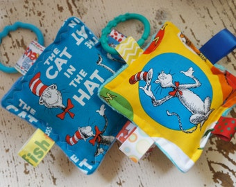 Baby Boy Toys, Dr Seuss toys, baby girl  toys, Cat in the hat toys,, Crinkle toys,  baby Personalized toys