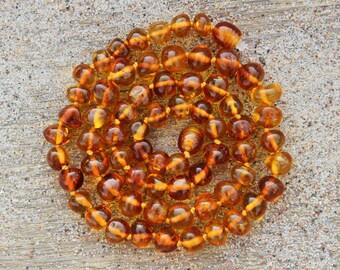 Cognac Baltic amber necklace
