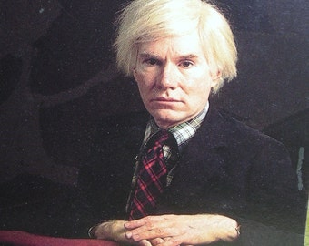 Reduced Vintage Postcard ...... Andy Warhol.....If  Direct Gazes Could Inspire  Great Art.....RPPC   Free Shipping