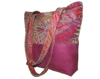 86- bag, purse, tote, handmade, light purple,for woman and girl