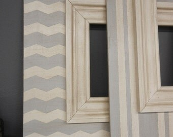 Grey Chevron Frame Etsy