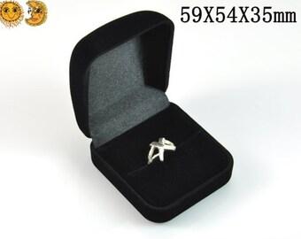 4  Pcs of Ring Gift Box,Jewelry Gift  Box  59X54X35mm