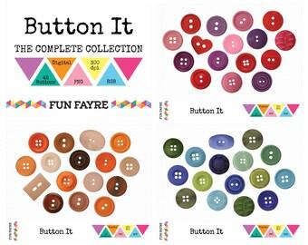 BUTTONS CLIP ART Digital • 48 x Purple, Pink, Red, Brown, Cream, Orange, Blue & Green Buttons • png • 300 dpi • rgb