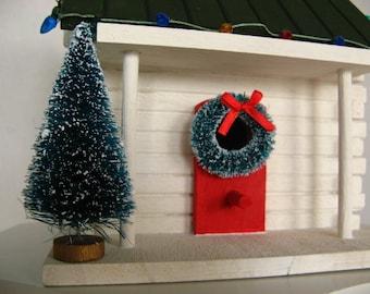 Christmas Cabin Birdhouse