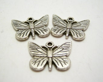 destash - last 3 butterfly charms - 22mm