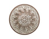 3 Byzantine 13/16 inch ( 20 mm ) Metal Buttons Silver Copper Color
