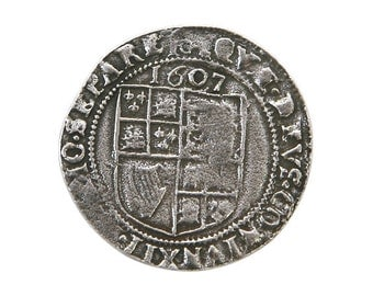 Danforth 1607 Shilling 15/16 inch ( 24 mm ) Pewter Button