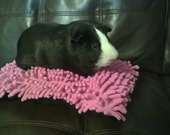 Custom Shag pillow cuddle bed for guinea pigs, hedgehogs, ferrets, rats, rabbits and other small animals cavy