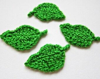 "1pc 2,3/4"" Crochet TREE LEAF Applique"