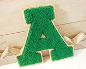 Vintage Athletic Letter Varsity Letter Green Block A Andrews High Massillon Ohio