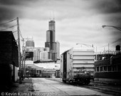 Chicago photography print - Goose Island - skyline view art print
