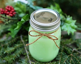 Pine Scented Candle in Mason Jar
